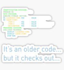 Older Code Sticker