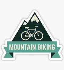 mountain biking, Mountain adventure, trekking, hiking, outdoor, adventure, moutaineer, wander, travel, wanderlust, explore, around the world, cycling Sticker