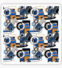 Abstract, black,white, gray orange abstract pattern and geometric shapes. Sticker