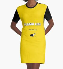 Formal Llama Graphic T-Shirt Dress