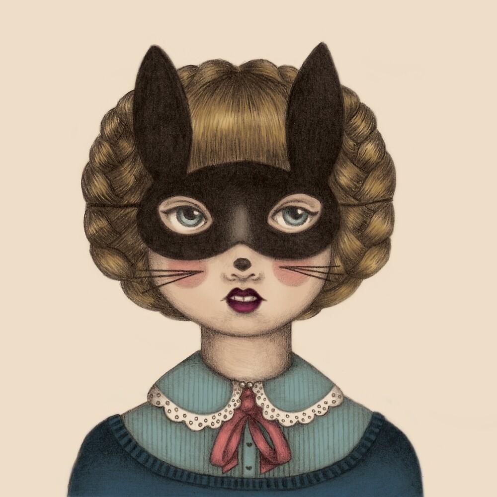 Ceremony - Masked Bunny lass by Emma Hampton