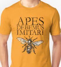APES DEBEMUS IMITARI Beekeeper Design T-Shirt
