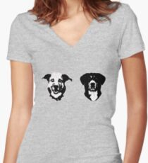 SEYMOUR & TOBY Women's Fitted V-Neck T-Shirt