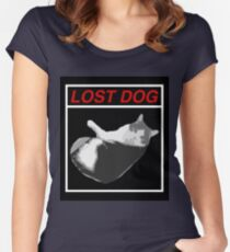 Lost Dog Women's Fitted Scoop T-Shirt