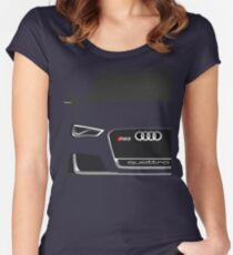 Audi RS3 Half Cut Women's Fitted Scoop T-Shirt