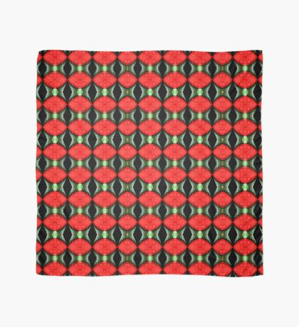 Red Flower Petal With Raindrops Abstract Design Scarf