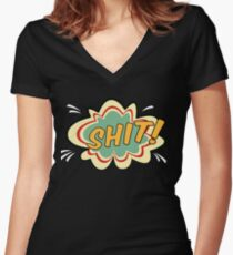 Comic Effect Women's Fitted V-Neck T-Shirt