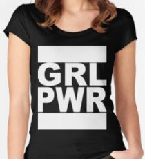 Girl Power Shirt black Women's Fitted Scoop T-Shirt