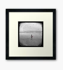 The Little Red Sailboat - TTV Framed Print
