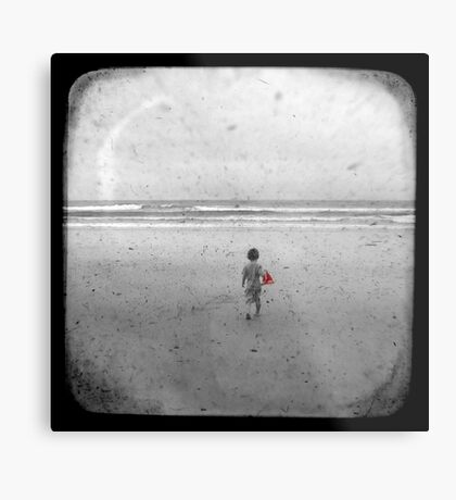 The Little Red Sailboat - TTV Metal Print