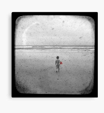 The Little Red Sailboat - TTV Canvas Print