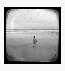 The Little Red Sailboat - TTV Photographic Print