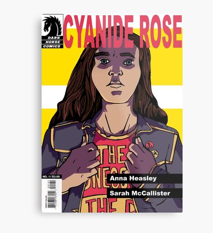 CYANIDE ROSE - comic book cover! Metal Print