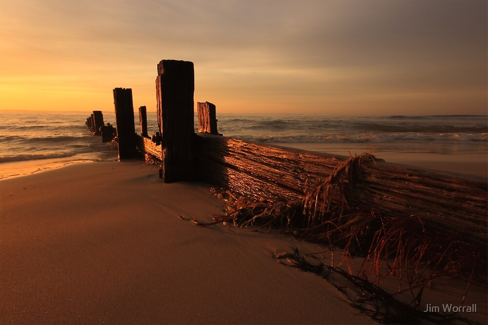 Balnarring Beach Groyne Sunrise by Jim Worrall
