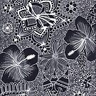 Doodle Flowers by MSullivanArt