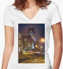 Anglican Cathedral Women's Fitted V-Neck T-Shirt