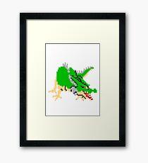 8bit Dragon Framed Print