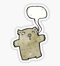 cartoon wombat Sticker