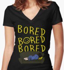Bored - Sherlock Women's Fitted V-Neck T-Shirt