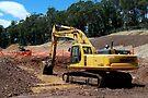 Komatsu PC300 Excavator by buildings