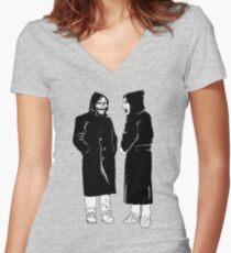 brandneu - der Teufel und Gott Shirt mit V-Ausschnitt