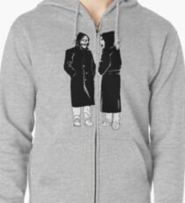 brand new - the devil and god  Zipped Hoodie