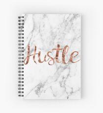 Hustle rose gold marble Spiral Notebook