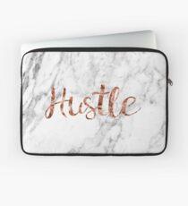 Hustle rose gold marble Laptop Sleeve