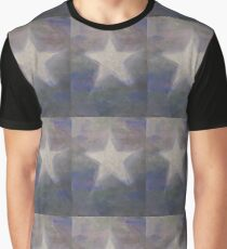 Stern silber - Star silver used look Graphic T-Shirt