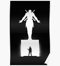 Deadpool Black And White Poster