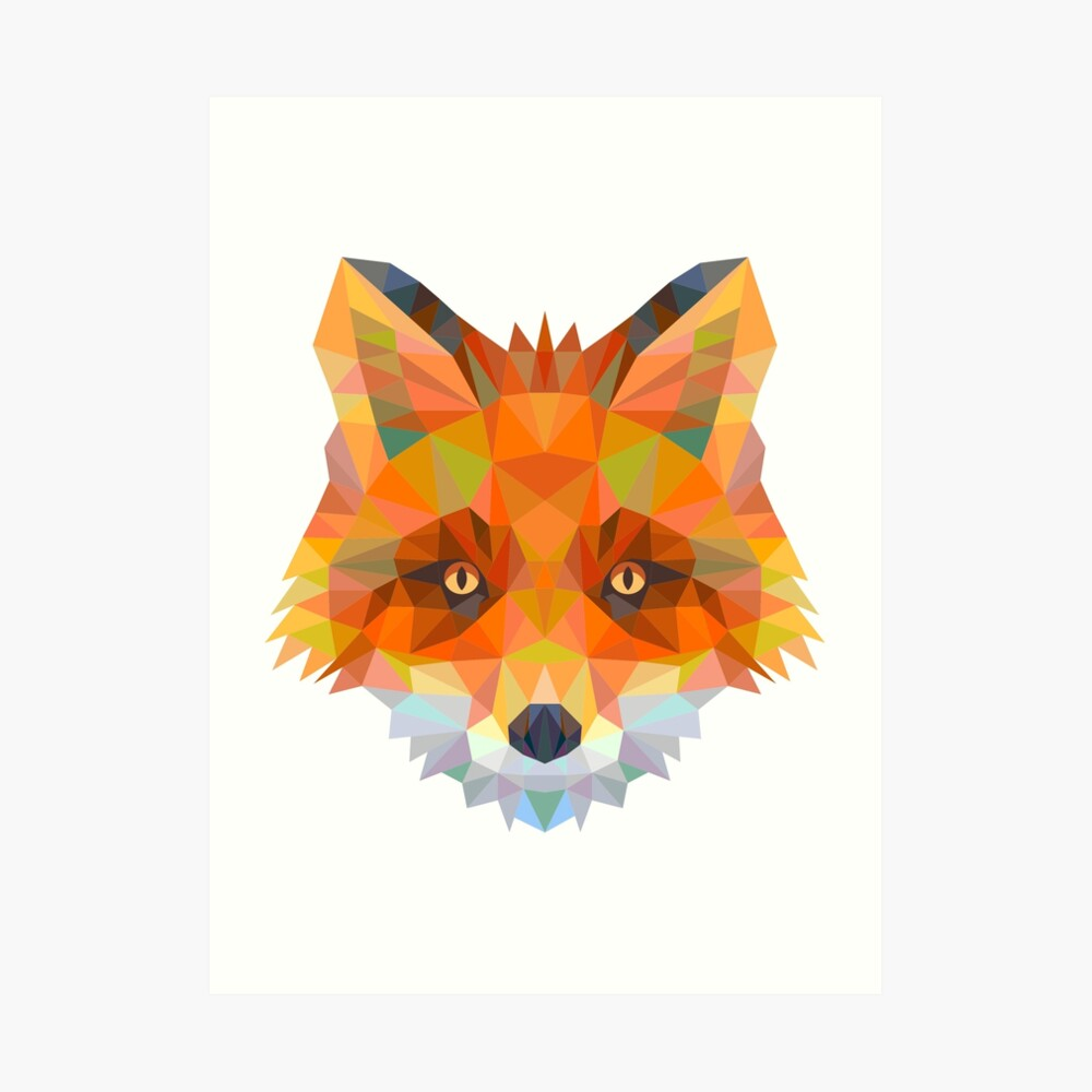 Abstract Fox Art