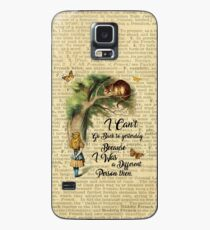 Alice in Wonderland Quote,Cheshire Cat,Vintage Dictionary Art Case/Skin for Samsung Galaxy