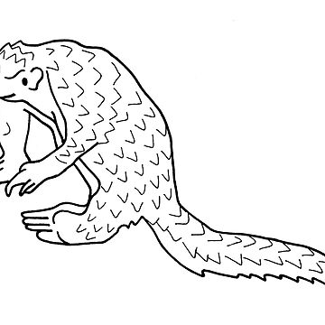 Cute happy pangolin friend by andreawillette