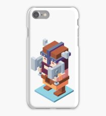 game characters, video game characters, game elf, game barbarian, game knight, game wizard, isometric game iPhone Case/Skin