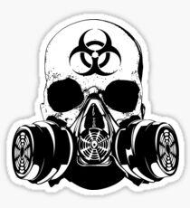 Pegatina Biohazard Zombie Skull