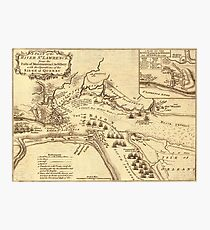 View Of Quebec City 1759 Photographic Print