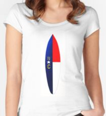 NC Surfboard Women's Fitted Scoop T-Shirt