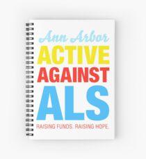 Ann Arbor Active Against ALS Spiral Notebook