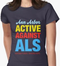 Ann Arbor Active Against ALS Women's Fitted T-Shirt