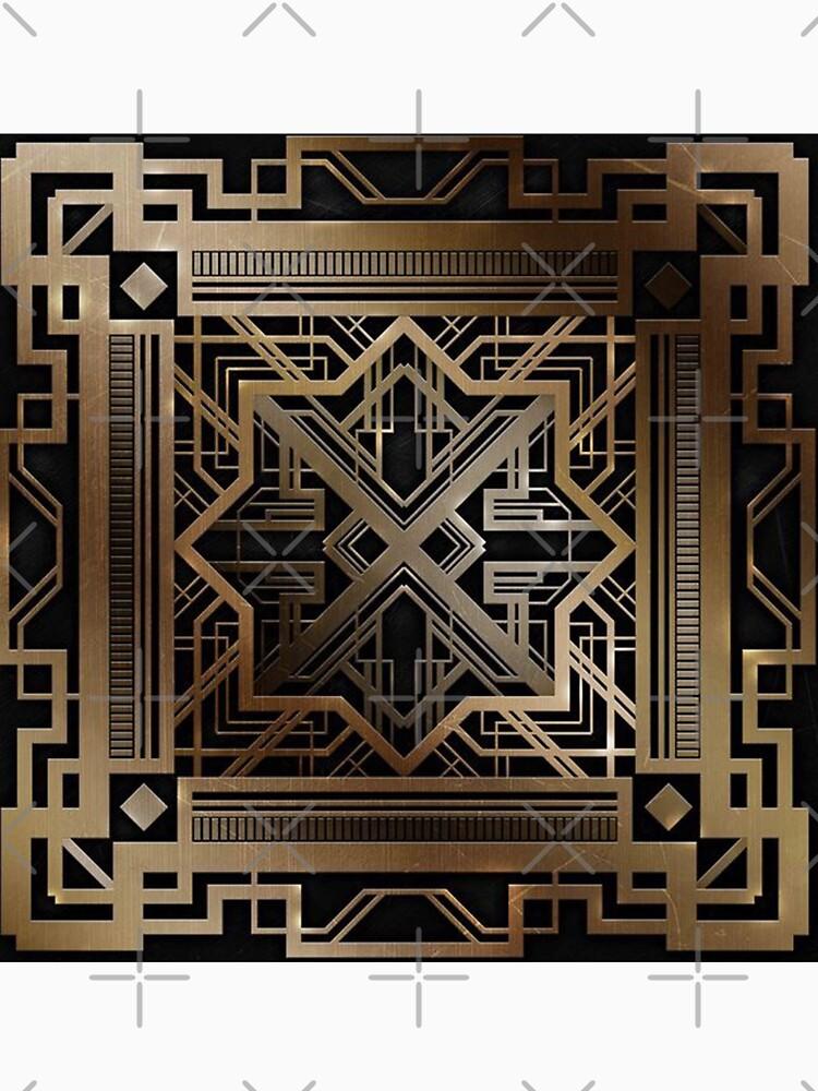 Art Deco, Gold, Schwarzes, Vintag, Chic, elegant, Ära 1920, der große Gatsby, modern, modisch, dekorativ von love999
