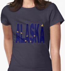 Alaskan flag Womens Fitted T-Shirt