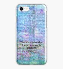 Inspirational Quote by Rumi  iPhone Case/Skin