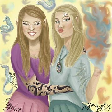 feyre and aelin by archerxn