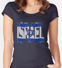 Israeli flag Women's Fitted Scoop T-Shirt