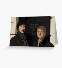 """221B"" Greeting Card"