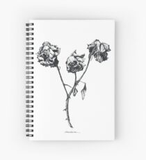 Three roses Spiral Notebook