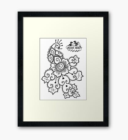 Henna Harpy Peacock  Framed Print