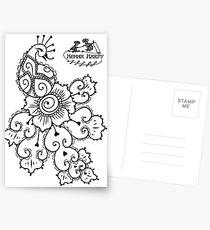Henna Harpy Peacock  Postcards