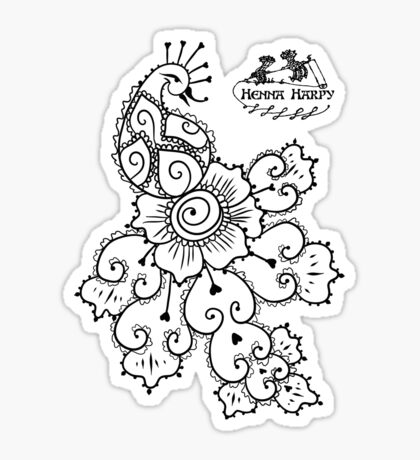 Henna Harpy Peacock  Sticker