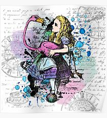 Alice in Wonderland collage Poster